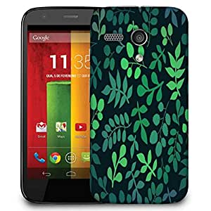 Snoogg Green Leaves Designer Protective Phone Back Case Cover For Motorola G / Moto G