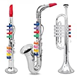 Set of 3 Music 1. Clarinet 2. Saxophone 3. Trumpet, Combo with over 10 Color Coded Teaching Songs.