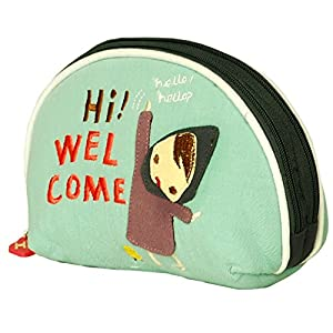 [Funny Girl] Embroidered Applique Wrist Wallet Coin Purse Wrist Pack (5.9*3.9)
