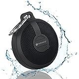 RAIKKO BASS DISC Bluetooth Lautsprecher - wasserfest, staubgeschützt, robust, Freisprecheinrichtung für Telefonkonferenzen inkl. Microfon & MicroSD Slot MP3 Player schwarz, für Smartphones, MP3 Player etc. DANCE
