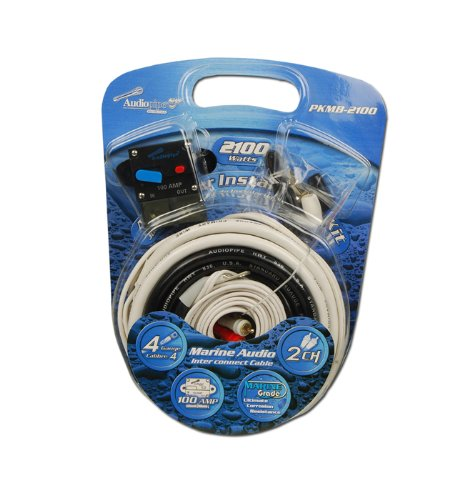Audiopipe 4 Gauge Marine Amplifer Wiring Kit