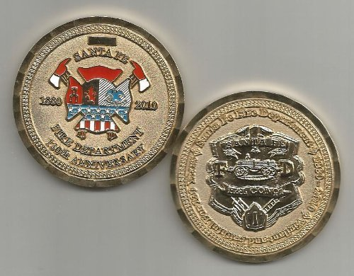 Santa Fe Fire Department 130th Anniversary 1880-2010 Challenge Coin
