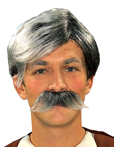 Forum Novelties Gepetto Wig and Moustache Kit, Grey - 1