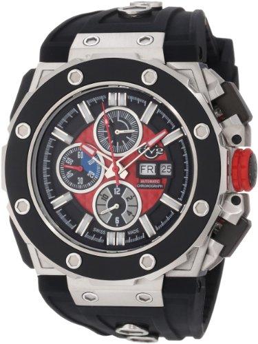 Gevril 8800 - Reloj de pulsera hombre, caucho, color negro
