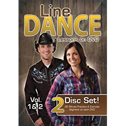 Line Dance Lessons on DVD Vol 1 & 2 (Two Disc Set, Line Dance Instructional DVDs)