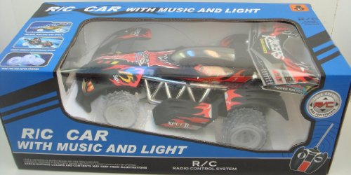 Remote Control CHAMPIONS RACING CAR WITH MUSIC AND LIGHT - Top Invincible - RED
