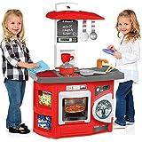 Spielküche mit Waschmaschine und 12 teiligem Zubehör, 57 x 82 cm: Kinder Küche Spielzeugküche Kinderspielküche Puppenküche Spielherd