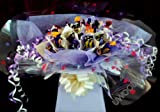 Sweety Trees and Bouquets ~ Personalised ~ Cadbury Heroes Chocolate Sweet Bouquet ~ Delivered in Patterned Gift Box