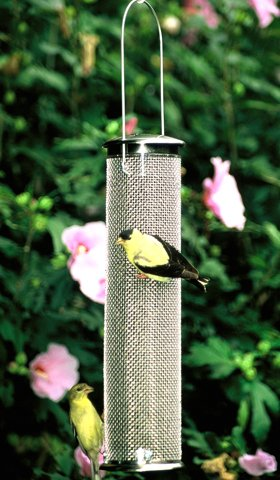 Aspects Nyjer Mesh Tube Finch Bird Feeder