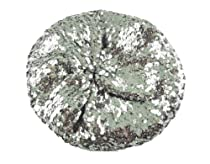 New Trendy Sparkle Sequine Beanie Beret Hat - Silver