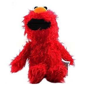 "Furyu Official Sesame Street Shaggy Big Plush - 2640 - 18"" Elmo"