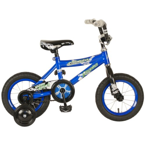 Piranha Boy's Codebreaker Bike (Blue/Black, 12-Inch)