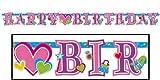 パーティーグッズ 【誕生日ミニレターバナープリンセス】バルーンのおまけ付