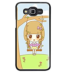 Printvisa Animated Sweet Girl On A Hammock Back Case Cover for Samsung Galaxy Grand 3 G720