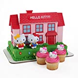 Hello Kitty Large Cake Topper and 24 Cupcake Topper Rings