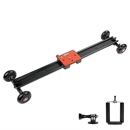 Koolertron-60CM Caméra Vidéo rails coulissants professionnel+Mini chariot stabilisation du système dans de tournage vidéo DV DSLR appareil photo reflex numérique DV Pour Caméscope Canon 550D 500D 600D 1100D 60D 50