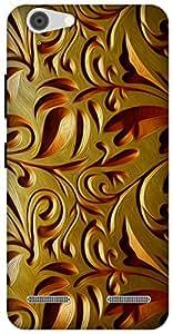 The Racoon Lean printed designer hard back mobile phone case cover for Lenovo Vibe K5 Plus. (gold weave)
