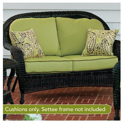 Chicago Wicker & Trading D-CUSH3280LS-P104/P105-W 4-Piece South Shore Collection Deep Seating Settee Cushion, Kiwi Green photo