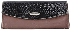 Aamin Womens Clutch (Black and Brown)