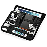 "Easyacc Tragbare Travel Cable Organizer Case Tasche with Handle for Electronics Zubehör H Bag/ Superior Protection Ultrabook Laptop Sleeve Bag Case for 8.9"" 9.7"" 10"" 10.1"" Inch Tablet, Such as Apple iPad air 2, iPad 2/3/4, Samsung Galaxy Tab 4 10.1, tab A 9.7 - Schwarz"