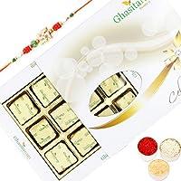 Rakhi Chocolates-Ghasitarams Chocolates Assorted Chocolates 12 Pcs White Box