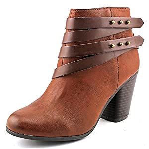 Material Girl Mini Women US 5.5 Brown Ankle Boot