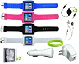 CrazyOnDigital 12-in-One Watchband and Accessory Bundle for iPod nano 6G