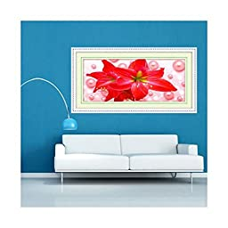 5D Diamond Painting 3D Printing Cross Stitch Living Room Flower Lily Pearl a Harmonious Union Lasting a Hundred Years