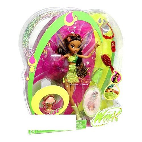 Picture of Mattel Winx Club Fairy Doll Deluxe Figure Layla with Pixie Friend Piff (B000A7ZOYK) (Mattel Action Figures)