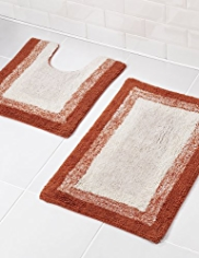 Graduated Border Bath & Pedestal Mats