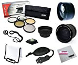 55MM Professional .35x + 2.2x Lens + Filter Accessory Kit for SONY Alpha Series A99, A77, A65, A58, A57, A55, A390 and A100 DSLR Cameras with a 18-55MM Zoom Lens - Includes Opteka .35x Fisheye + 2.2x Telephoto Lens + Filter Kit (UV, CPL, FLD, ND4 and 10x