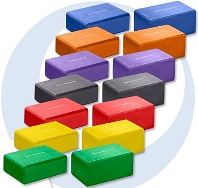 Trendy Sport Yogablock aus Schaumstoff, Schaumstoffblock, Trainingshilfe für Yoga-Übungen, verschiedene Farben und Höhen zur Auswahl