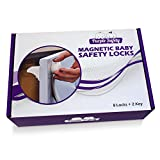 Magnetic-Baby-Safety-Locks-for-Cabinets-Drawers-Baby-Proof-Easy-Install-No-Screws-or-Drilling-82-Set