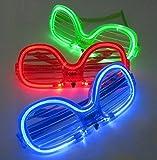 【PetitCadeau】光るメガネLEDサングラスハロウィンパーティ余興などに便利な3色セット♪