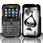 For Samsung S390g (StraightTalk/Net 10/Tracfone) Rubberized Design Cover - Spade Skull