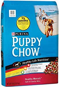 Purina puppy chow healthy morsels formula dry pet food for Purina game fish chow