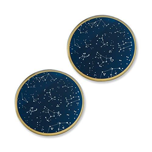 kate-aspen-under-the-stars-glass-coasters-navy-gold-white