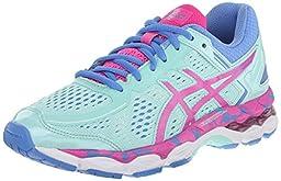 ASICS Gel Kayano 22 GS Running Shoe (Little Kid/Big Kid), Ice Blue/Pink Glow/Marina, 6.5 M US Big Kid