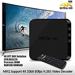 Fentac MXQ-4K RK3229 Quad Core DDRIII 1G /8G WiFi 2.4GHz 100M Android 4.4.4 Smart TV Box Support XBMC/KODI