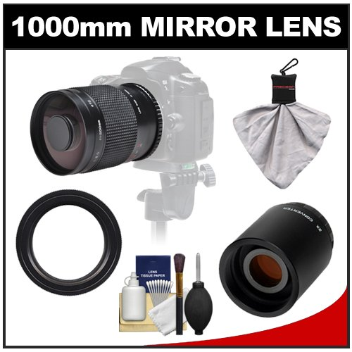 Samyang 500Mm F/8.0 Mirror Lens With 2X Teleconverter (=1000Mm) For Canon Eos 60D, 7D, 5D Mark Ii Iii, Rebel T3, T3I, T4I Digital Slr Cameras