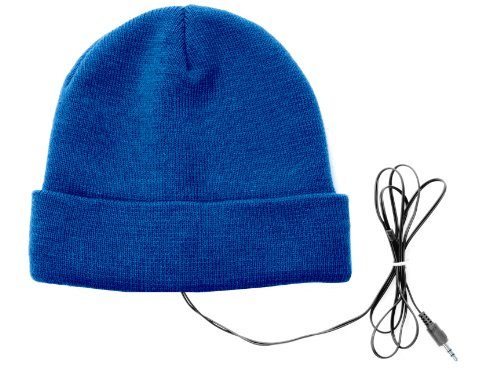 PT Silly Earphone Acrylic Hat with Black Wire (Blue)