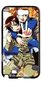 Axis Powers pop cartoon stylish design Hetalia HD image case for Samsung Galaxy Note 2 N7100 black + Card Sticker