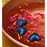 Blackberry Overseas Set Of 3 Decorative Heart Shaped Sparkle Floating Candle - B016A2K3O4