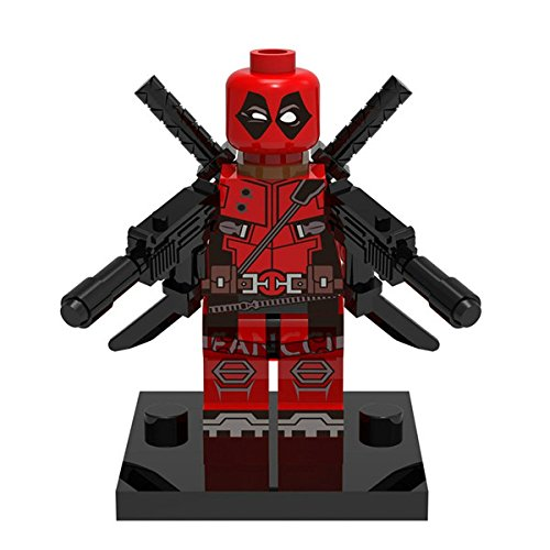 [Deadpool Minifigures (Red Deadpool)] (Clark Kent Halloween Costume Girl)