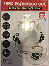9pc Porcelain Espresso Set - Bene Casa