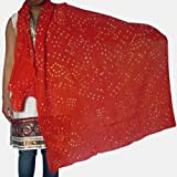 Women Scarf Cotton Handmade Accessory from India 92 x 213 cmsby DakshCraft