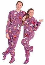 Footie Pajamas for Wine Lovers Fleece Drop Seat, 5