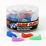Officemate OIC Slide On Plastic Clips, Assorted Translucent Colors, Tub of 60 (31010)