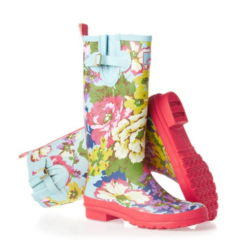 Joules Welly Print Wellington Boots - Floral