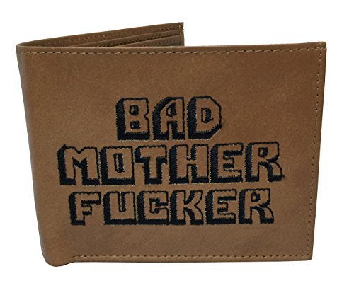 Bad Mother Fucker Wallet 100% Genuine Brown Leather